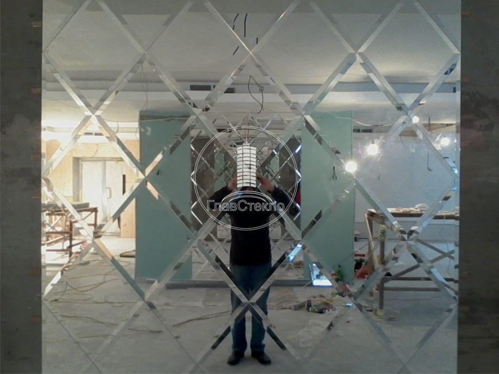 Зеркальное панно на стену 3