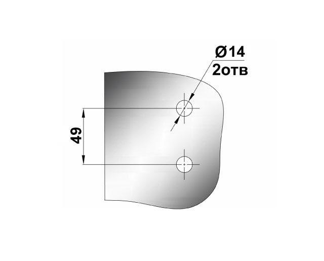 Крепеж для душевых кабин 79