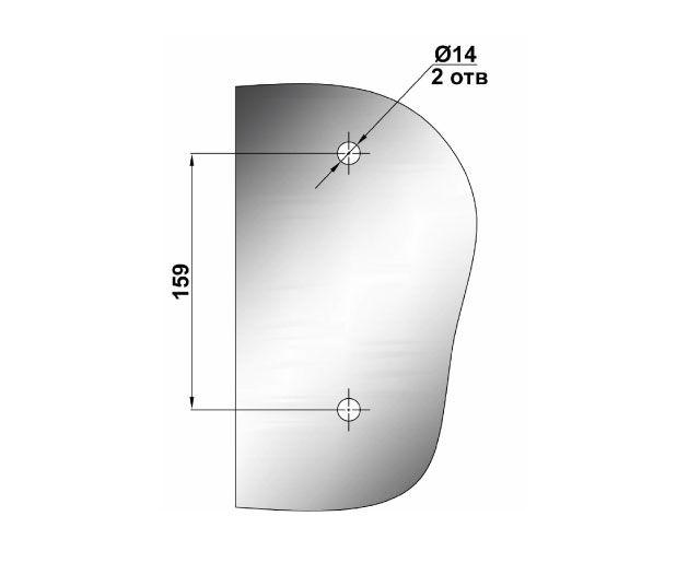 Крепеж для душевых кабин 85