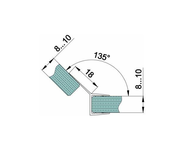 Крепеж для душевых кабин 155