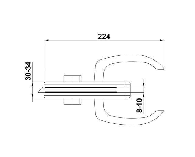 Крепеж для стеклянных дверей 61