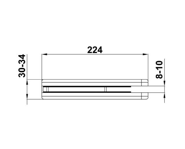 Крепеж для стеклянных дверей 71