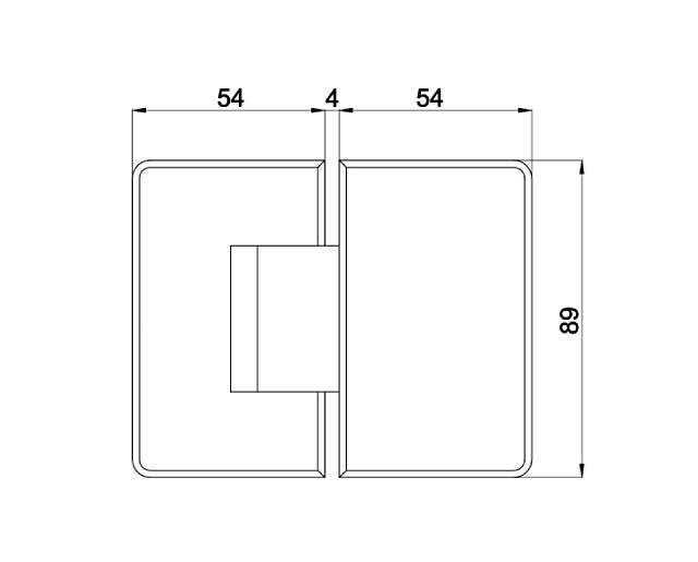 Крепеж для стеклянных дверей 23