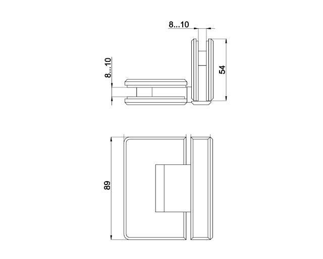 Крепеж для стеклянных дверей 29