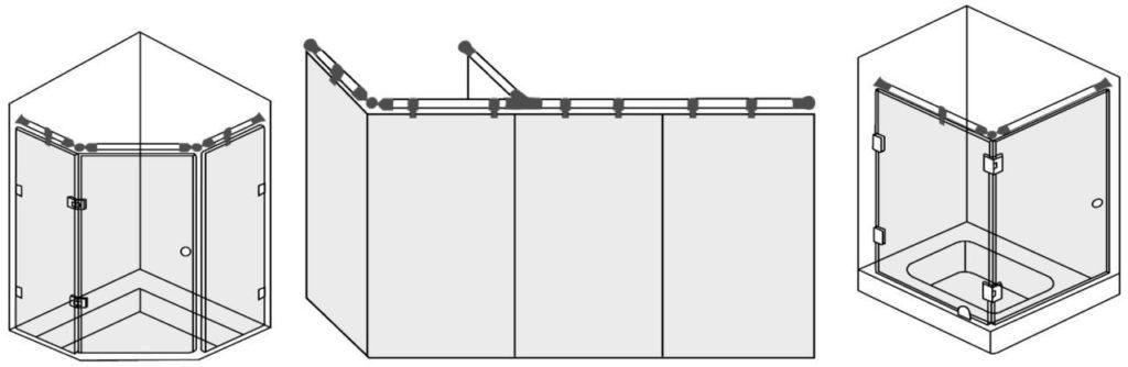 Крепеж для душевых кабин 1