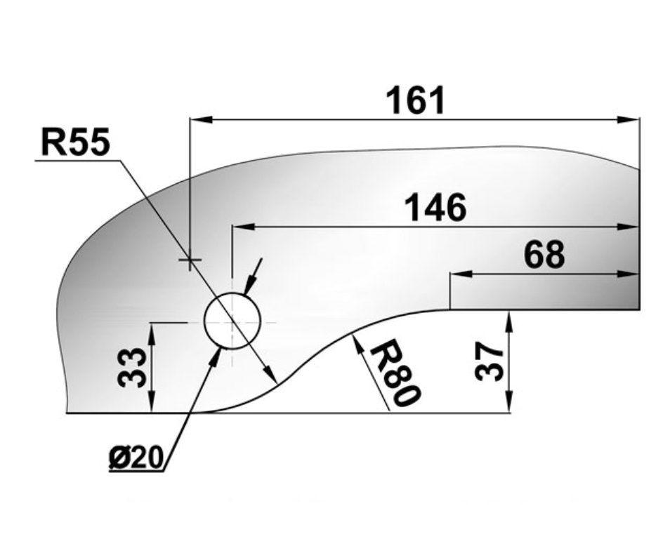 Крепеж для стеклянных перегородок 66