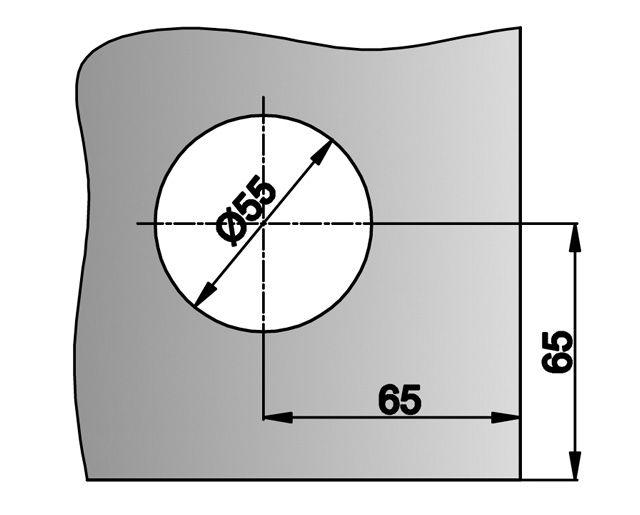 Крепеж для стеклянных перегородок 98