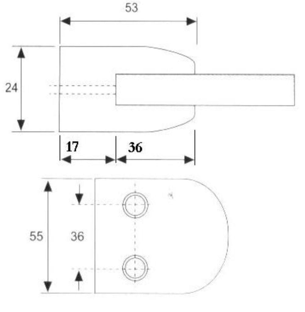 Крепеж для стеклянных перегородок 6