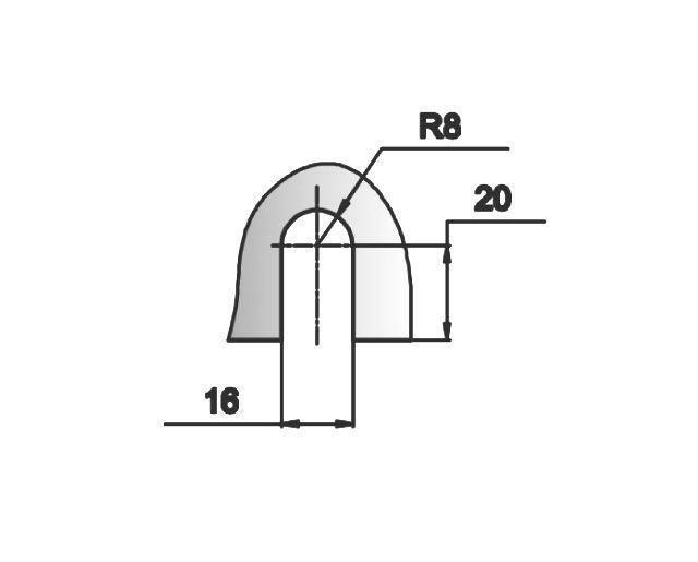 Крепеж для стеклянных перегородок 24