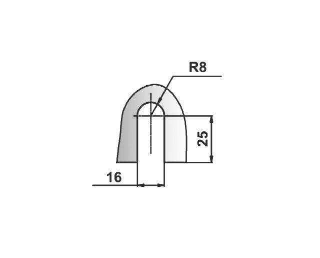 Крепеж для стеклянных перегородок 42