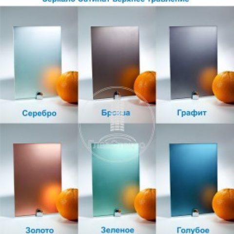 Зеркала Сатинат (химическое травление)